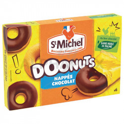 Doonuts nappés chocolat 180g St Michel
