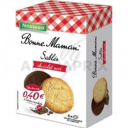 Sablés nappés Chocolat Noir 160g Bonne Maman en stock