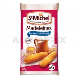 Madeleines Pocket par 6 longues natures 80g St Michel en stock