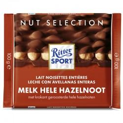 Ritter Sport lait noisettes entières 100g en stock