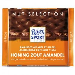 Ritter Sport amandes au miel et au sel 100g en stock