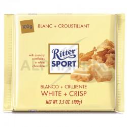 Ritter Sport blanc + croustillant 100g en stock
