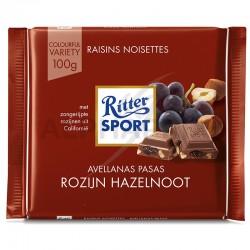 Ritter Sport raisin noisette 100g en stock