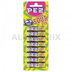 Pez blister de 8 recharges sour