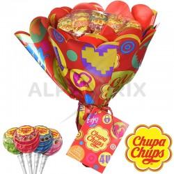 Bouquet de 19 sucettes Chupa Chups en stock