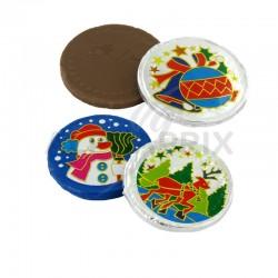 Médaillons de Noël en chocolat kg en stock