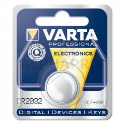 Piles elec. cr2032 lithium bouton 3v...Varta