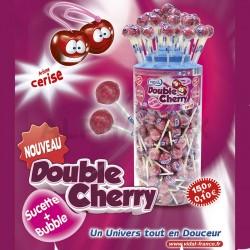 Sucettes double cherry Vidal en stock