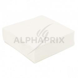 Serviettes de table BLANC par 50 en stock