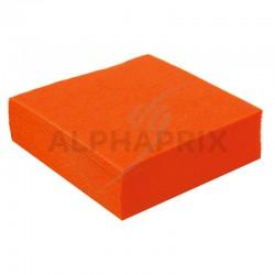 Serviettes de table Mandarine par 50 en stock