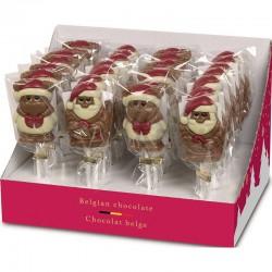 Sucettes chocolat Noël assorties 35g Hamlet en stock