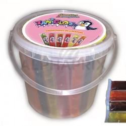 Sucettes à congeler 330ml en seau en stock