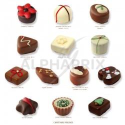Chocolats de Noël assortis boîte vrac Ickx en stock