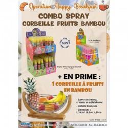 Combo Spray Corbeille Fruit Bambou en stock