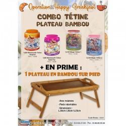 Combo Tétine Plateau Bambou en stock