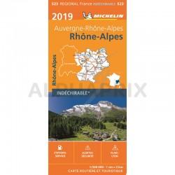 Carte Région Rhône Alpes en stock