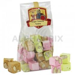 ~Nougats tendres ass. aux amandes 3 parfums 150g en stock