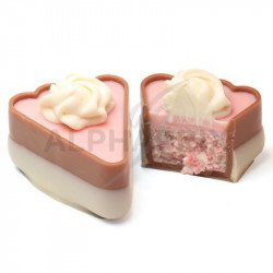~Boîte 1 kg Gâteau Crème Fruits rouges et Rosette crème blanc Ickx en stock