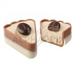 ~Boîte 1 kg Gâteau Crème café + Fève chocolat café Ickx
