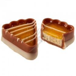 ~Boîte 1 kg Gâteau Crème Biscuit abricot+ gelée pêche Ickx