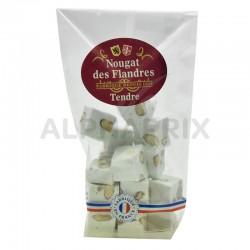 Nougats tendres aux amandes et vanille sachet 125g en stock