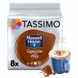 Tassimo Maxwell House Cappuccino choco 208g (8 t-discs) en stock