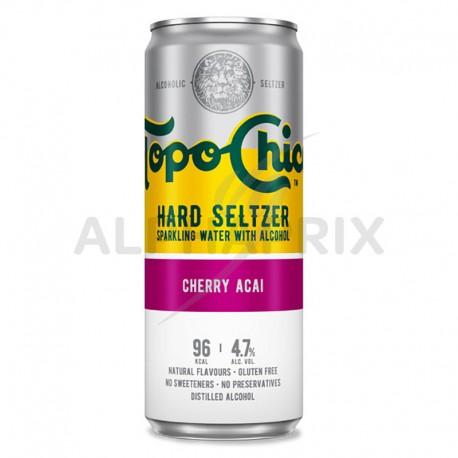Topo Chico Cherry Açai boîte 33cl Hard Seltzer