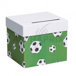 Urne / Tirelire football VERT en stock