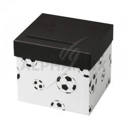 Urne football blanc en stock