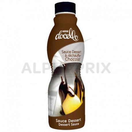 Docello Sauce dessert Chocolat à réchauffer Bouteille 1kg