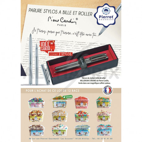 Colis pg 12 tubos Coffret 2 stylos P.Cardin