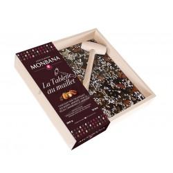 Tablette noire à casser 300g Monbana + maillet en stock