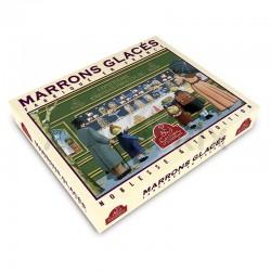 Coffret de 16 marrons glacés pliés or - 270g en stock