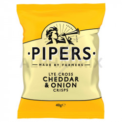 Chips Pipers cheddar & onion 40g