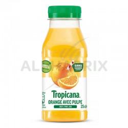 Tropicana orange avec pulpe PET 25cl 100% pur jus en stock
